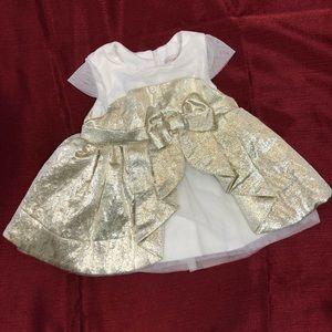 Gold Infant Holiday Dress